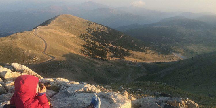 capture the mountainous view